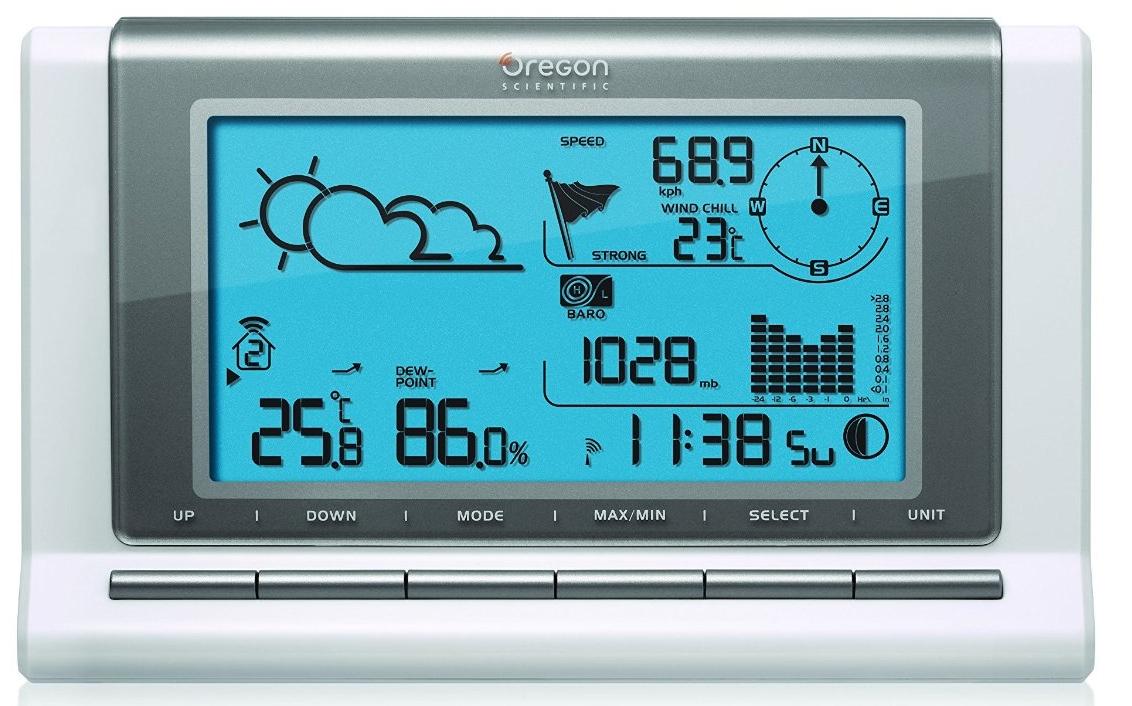 Promo!OREGON WMR88, station météo sans fil à 107€