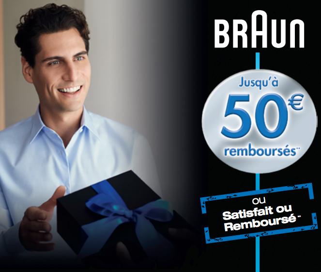 Bon Plan!Braun rembourse jusqu'à 50€ sur ses rasoirs électriques