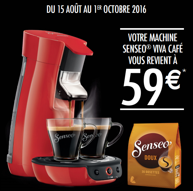 Bon Plan!Philips fait sa Senseo Viva Café à 59 euros