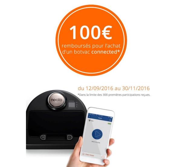 Bon Plan!Neato rembourse 100€ sur ses aspirateurs connectés