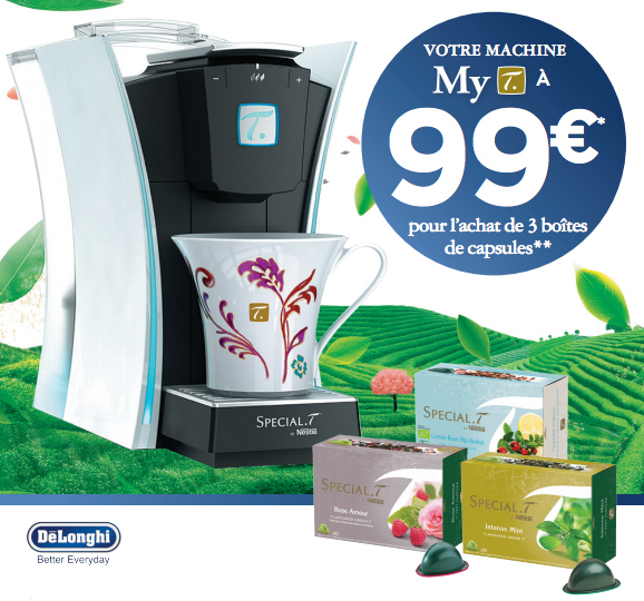 Bon Plan!Votre machine Special T. Mini T. à 69€et My T. à 99€