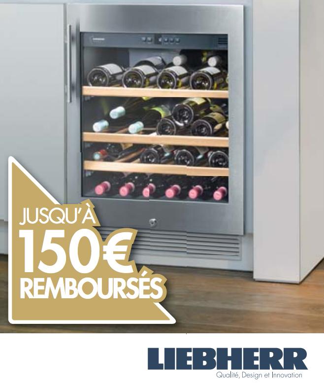 Bon Plan!Liebherr rembourse jusqu'à 150 euros sur ses caves à vins