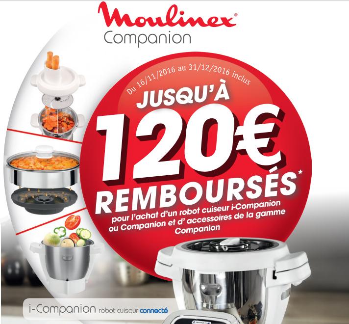 Bon Plan!Moulinex rembourse jusqu'à 120€ sur son Companion