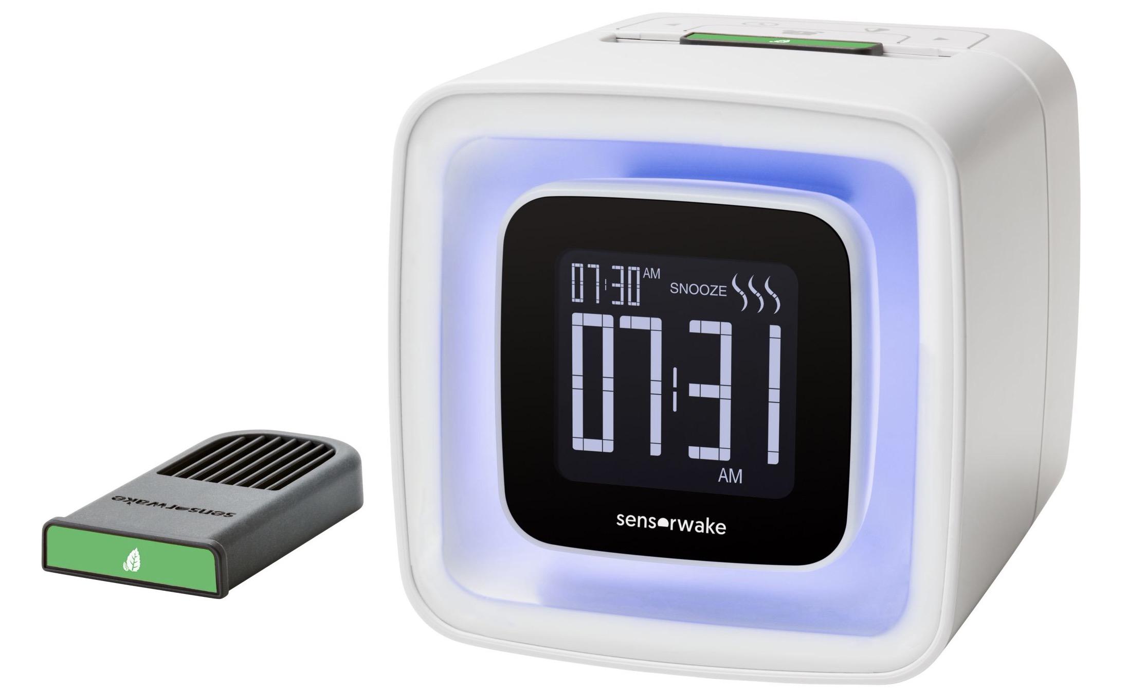 Se lever en douceur avec Radio réveil olfactif Sensorwake V2 à 99€